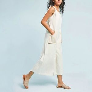 NEW Anthropologie WRAY Natural Cotton Jumpsuit